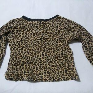 Leopard print girl long sleeve top